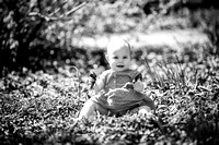 Aria's 1-Year-Old Portraits B&W