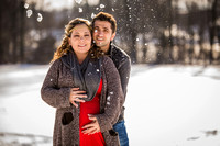 Stefania & Vlad Maternity Session In The Snow